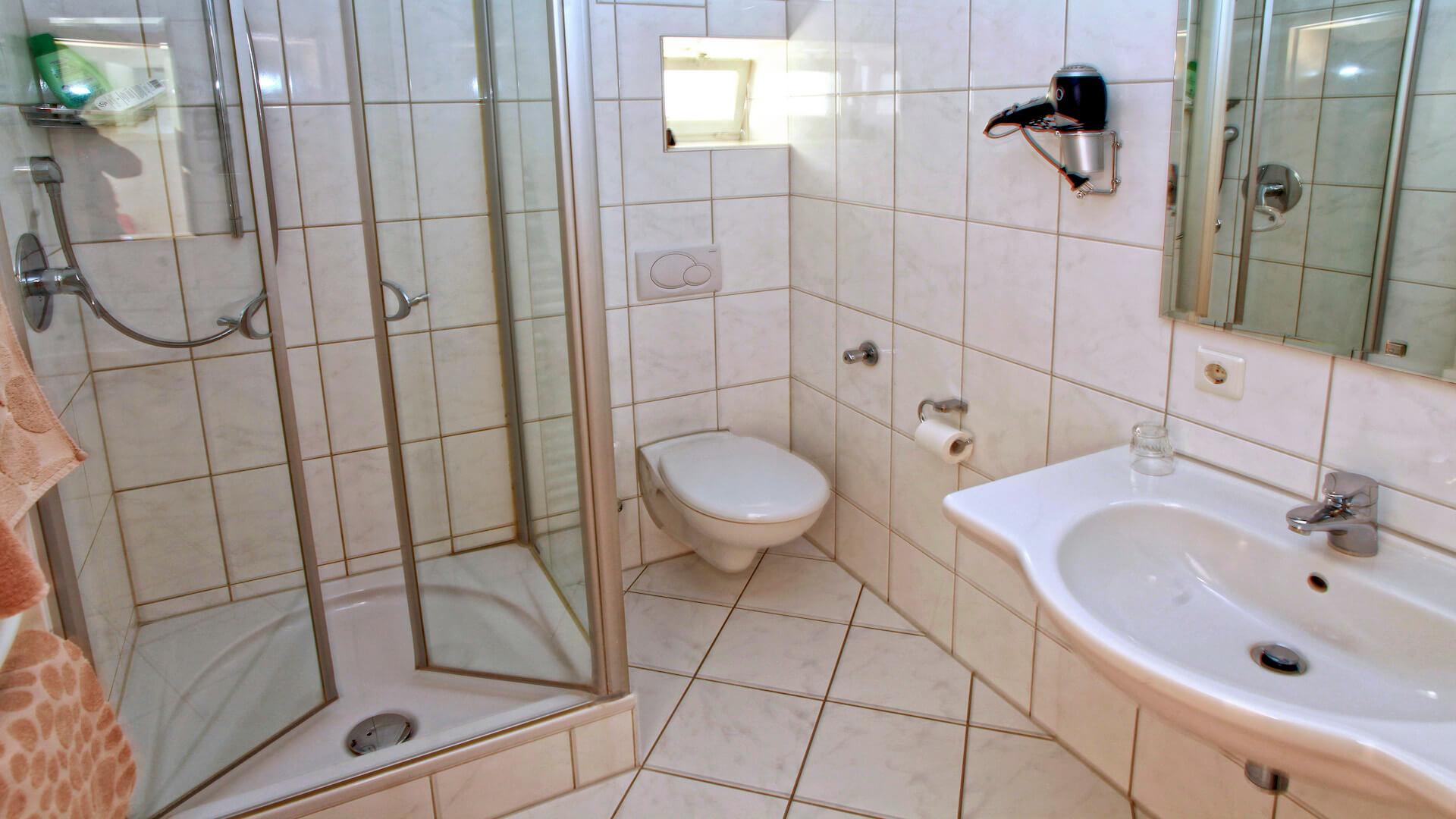 Dusche | Hotel-Gasthof Schiff - Horb am Neckar