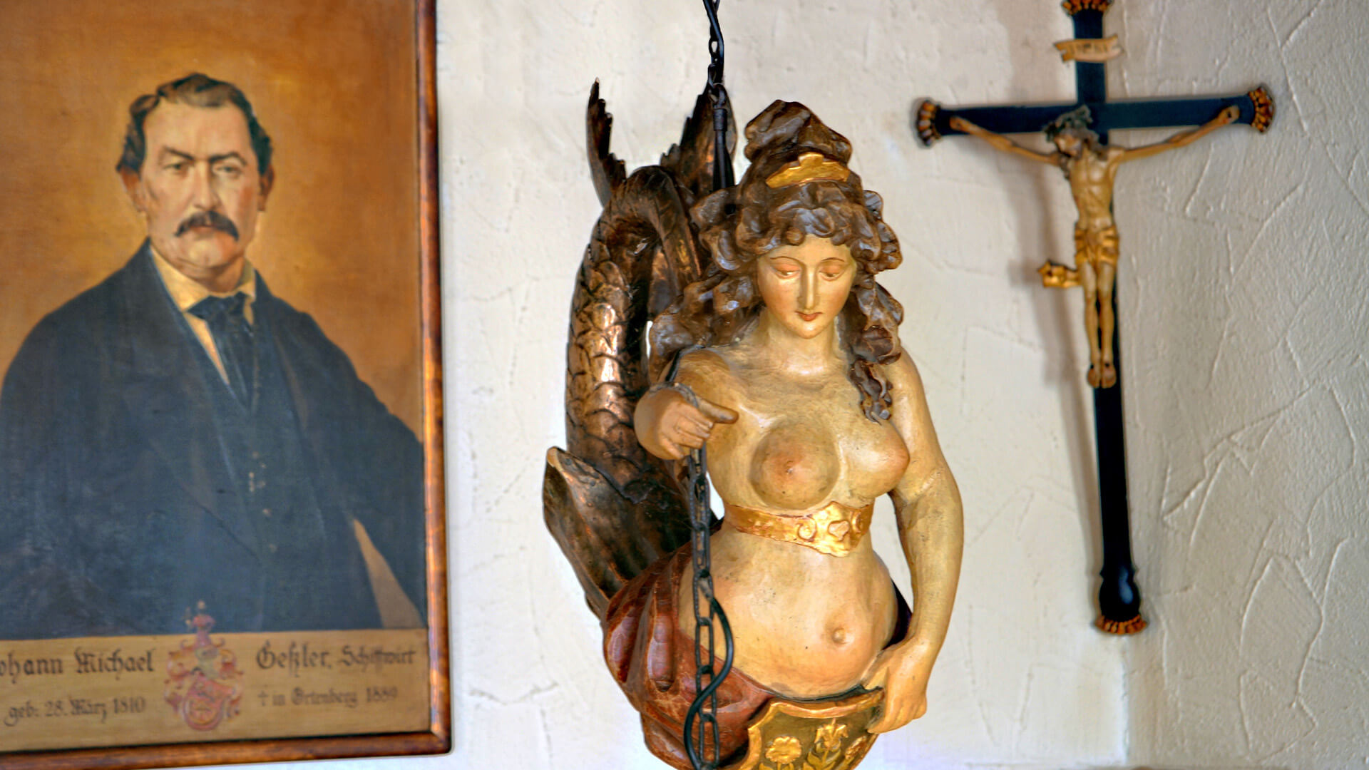 Meerjungfrau im Restaurant | Hotel-Gasthof Schiff- Horb am Neckar