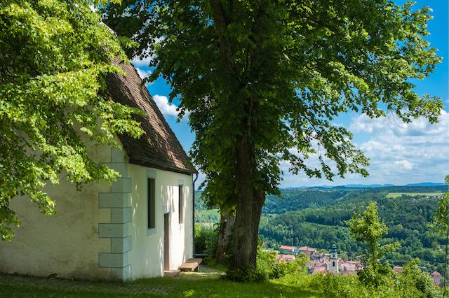 Die historische Ottilienkapelle in Horb am Neckar. Schwarzwald, Baden-Württemberg, Deutschland, Europa